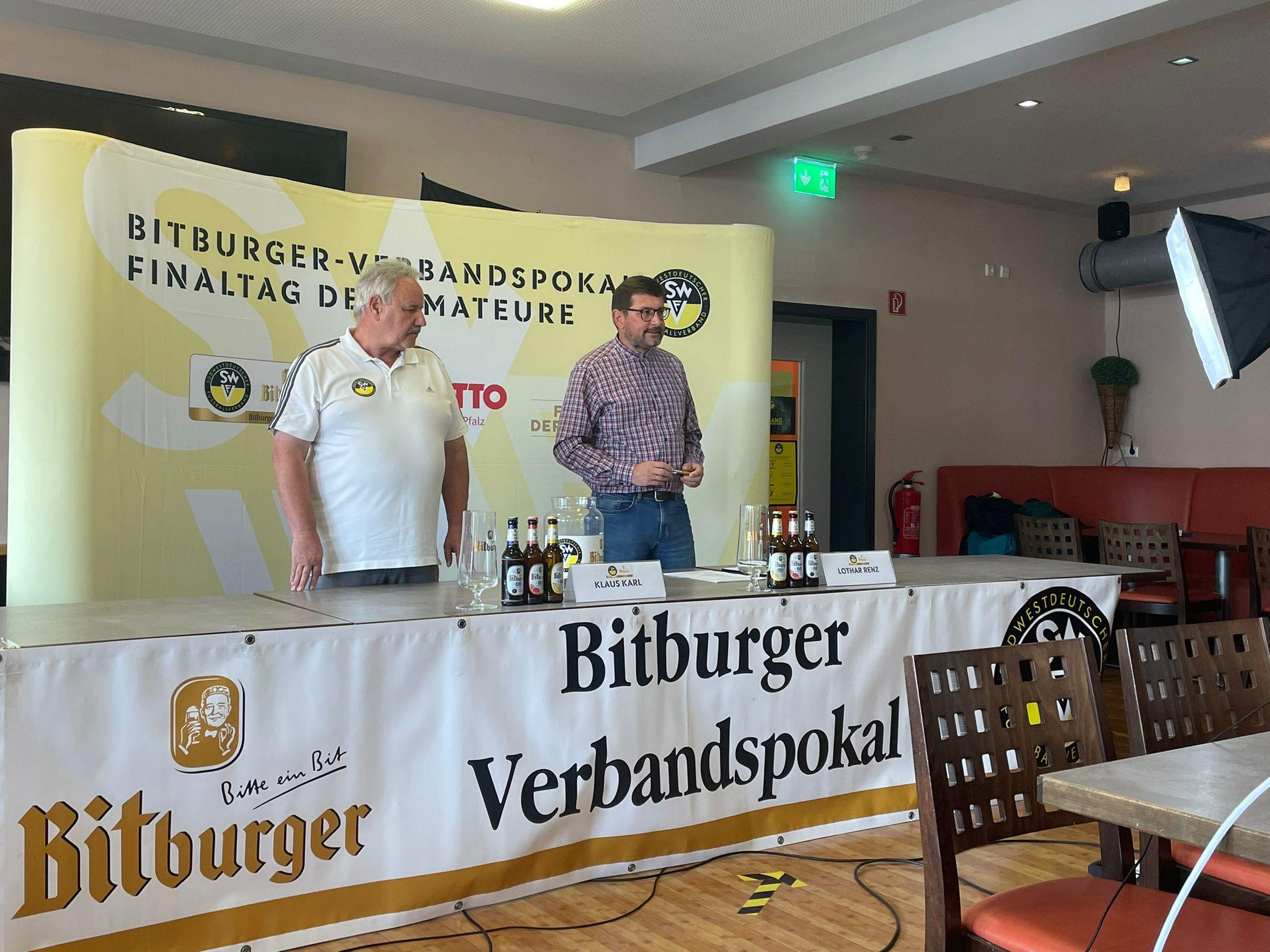 Auslosung im Bitburger Verbandspokal 5. Runde